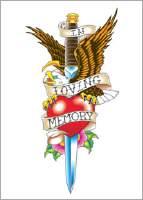 Loving Memory  Tattoos on In Loving Memory Temp Tattoo In Loving Memory Temptoo  6 X 9 Cm  2 5
