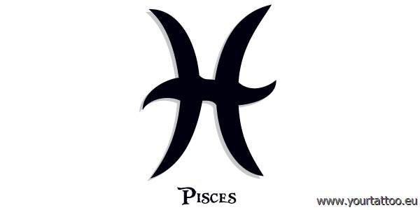 pisces zodiac tattoo fisch sternzeichentattoo. Black Bedroom Furniture Sets. Home Design Ideas