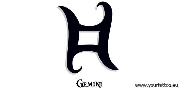 gemini zodiac tattoo zwilling sternzeichentattoo. Black Bedroom Furniture Sets. Home Design Ideas