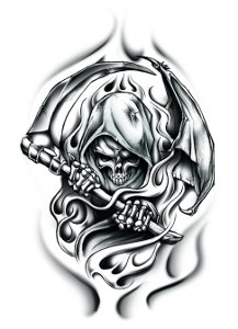 reaper large temporary tattoo