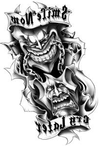 Classic Urban Mask Sticker Tattoo