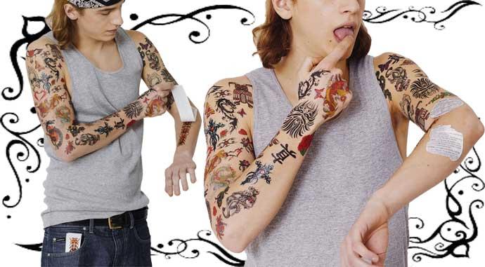 entfernbare Tattoos, Fake Tattoos ohne Schmerzen für zwischendurch